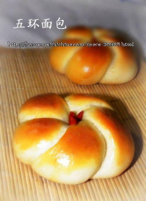 五环面包的家常做法_五环面包的做法大全-君之烘培网