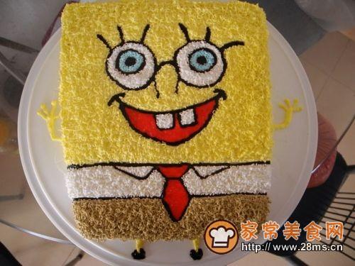 海绵宝宝生日蛋糕(2)的做法