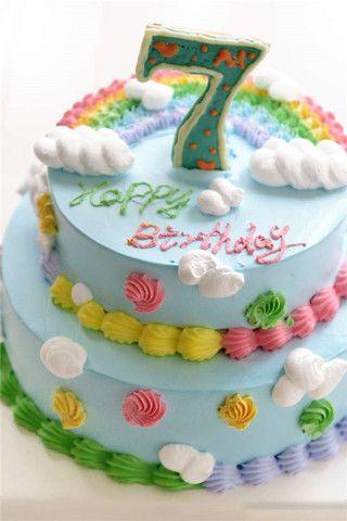 双层生日蛋糕(2)的家常做法