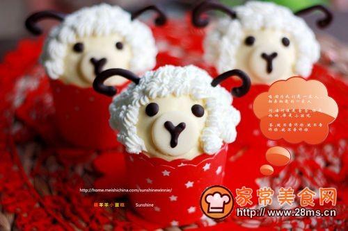 呆萌羊羊迎羊年萌羊羊小蛋糕(2)的做法