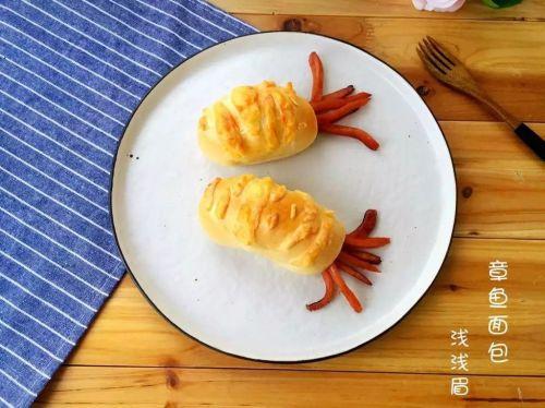 章鱼面包的做法图解12