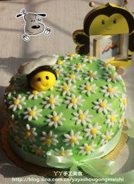 春天来了小蜜蜂翻糖蛋
