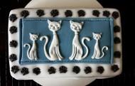 古典猫翻糖巧克力蛋糕