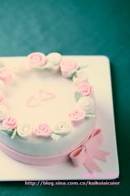 翻糖玫瑰蛋糕