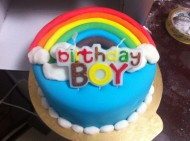 翻糖彩虹蛋糕