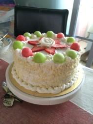 处女作水果奶油蛋糕