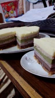无色素彩虹芝士蛋糕
