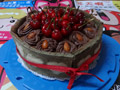 缎带抹茶慕斯生日蛋糕