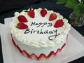 草莓原味生日蛋糕
