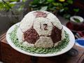 儿子的生日蛋糕足球蛋