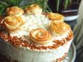 苹果玫瑰生日蛋糕