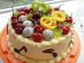 五彩水果奶油蛋糕
