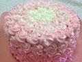 渐变玫瑰花奶油蛋糕