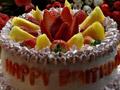 草莓味水果蛋糕