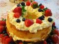 丰富的戚风水果蛋糕