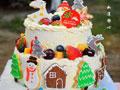 圣诞城堡蛋糕