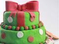 圣诞礼物盒翻糖蛋糕