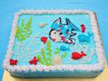 海底世界场景蛋糕