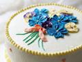 浪漫清新的花朵蛋糕
