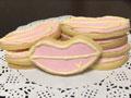 唇印翻糖饼干