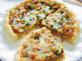 中国风披萨香葱肉臊披