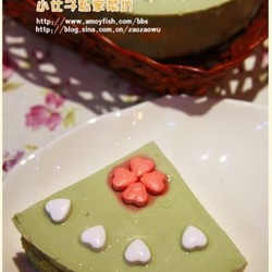 绿茶慕斯蛋糕