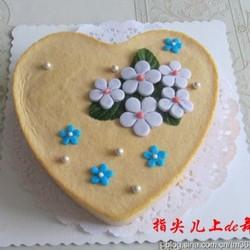 翻糖花芒果慕斯蛋糕