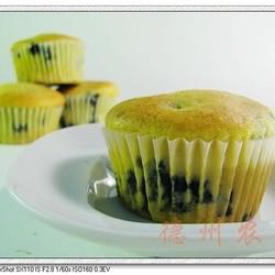 健康蓝莓纸杯蛋糕
