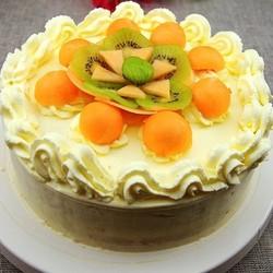 哈密瓜生日蛋糕