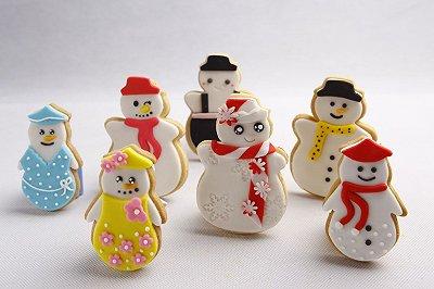 可爱雪人翻糖饼干