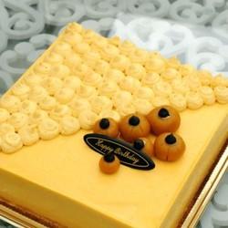 南瓜慕斯生日蛋糕
