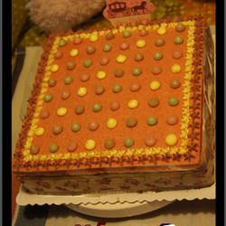 彩色波点生日蛋糕