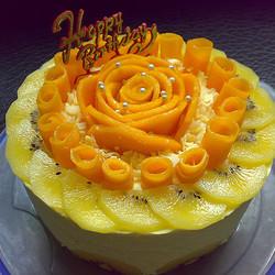 芒果流沙慕斯蛋糕