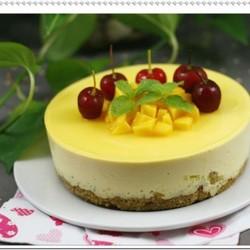 芒果冻奶酪慕斯蛋糕
