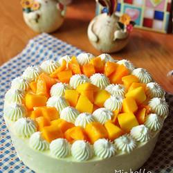 芒果香橙慕斯蛋糕