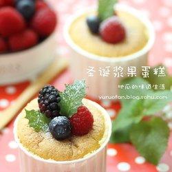 圣诞浆果纸杯蛋糕
