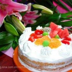 鲜奶油水果蛋糕