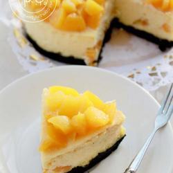 黄桃乳酪蛋糕