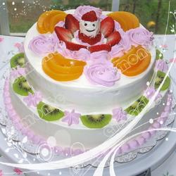 双层水果蛋糕