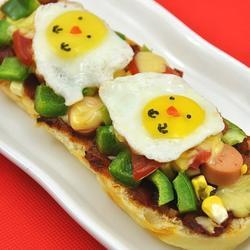 小鸡面包披萨