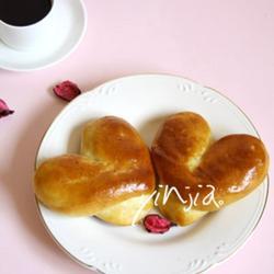 心型芝士面包
