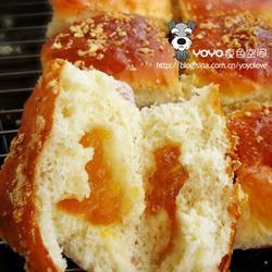 奶油乳酪夹馅面包