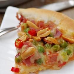 花生培根芝心披萨