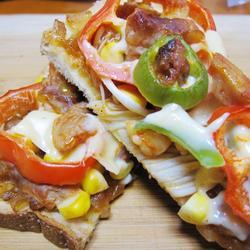 鸡肉吐司披萨