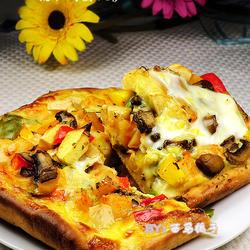 蔬果鸡蛋披萨