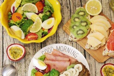 营养早餐水果欧包