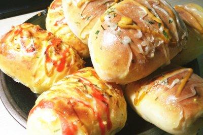葱油火腿芝士夹心面包