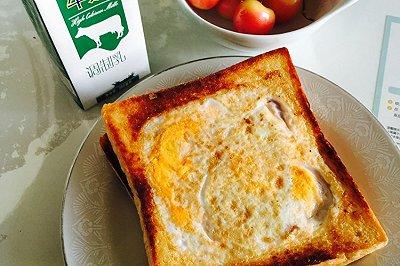 培根芝士鸡蛋吐司