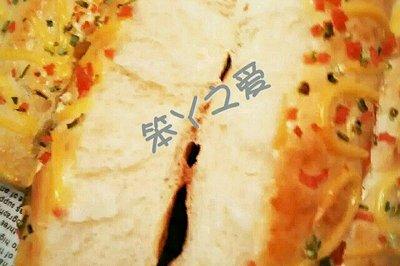 香葱芝士火腿排包