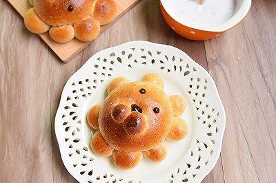 狮子全麦豆沙面包